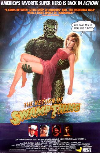 Resultado de imagen para The Return Of Swamp Thing movie poster