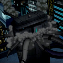Metropolis during Brainiac's attack.