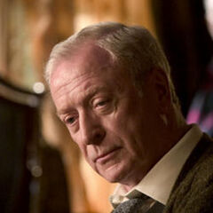 Michael Caine as Alfred Pennyworth in <i>Batman Begins</i>.