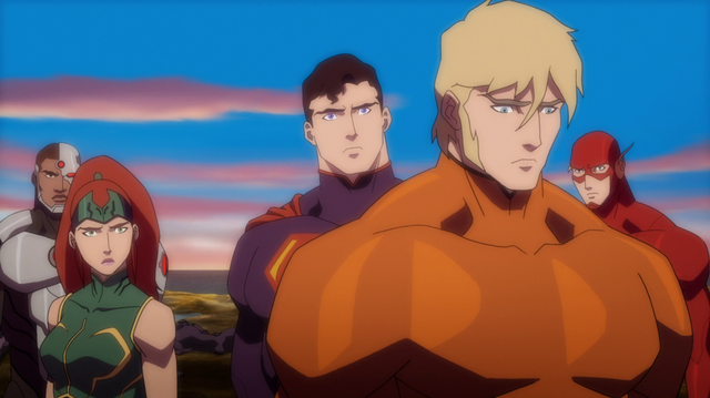File:Aquaman & Mera & Cyborg & Superman JLTOA.png