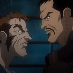 Captain Boomerang and Floyd Lawton.
