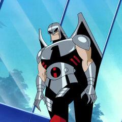 Warhawk deals with a Superman Robot.