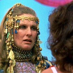 Queen Hippolyta's reaction to Diana's victory.