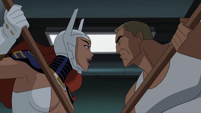 File:Wonder Woman and Steve Trevor JLG&M.png