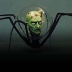 Sculpture of Brainiac's detachable head