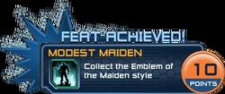 Feat - Modest Maiden
