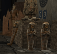 Standing Kings Sarcophagus - Terracotta Warrior - Stack of Weathered Crates (University Warehouse)