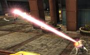 Power Girl heat vision