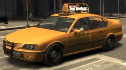 Das Taxi mit America's-Next-Top-Hooker-Werbung