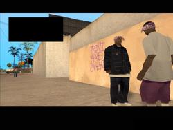 Tagging up Turf, East Los Santos, SA