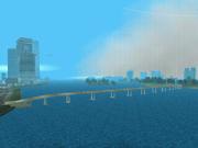 Links Bridge von oben, Vice City