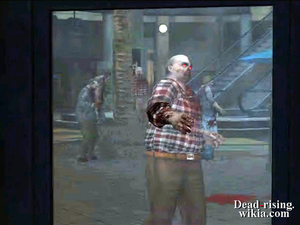 Dead rising bug zombie hand through window