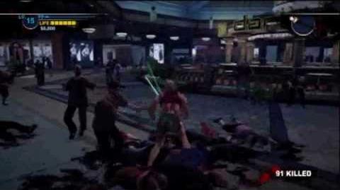 Dead Rising 2 Light Saber Gameplay