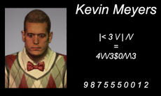 Dead rising 2 Kevin Meyers business card