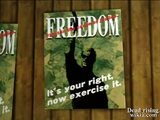 Dead rising huntin shack freedom poster