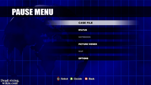 Dead rising overtime mode pause menu no map