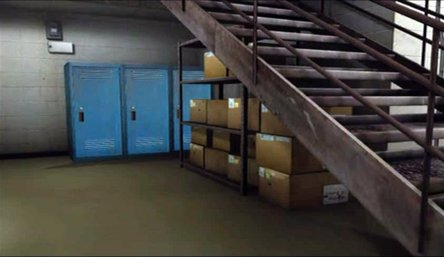 File:Dead rising boxes under stairs for original clothes.png