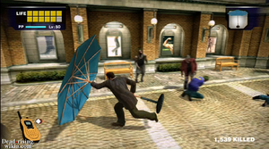 Dead rising parasol hitting zombies in al fresca