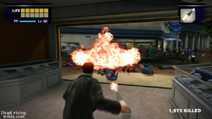 Dead rising Molotov Cocktail thrown