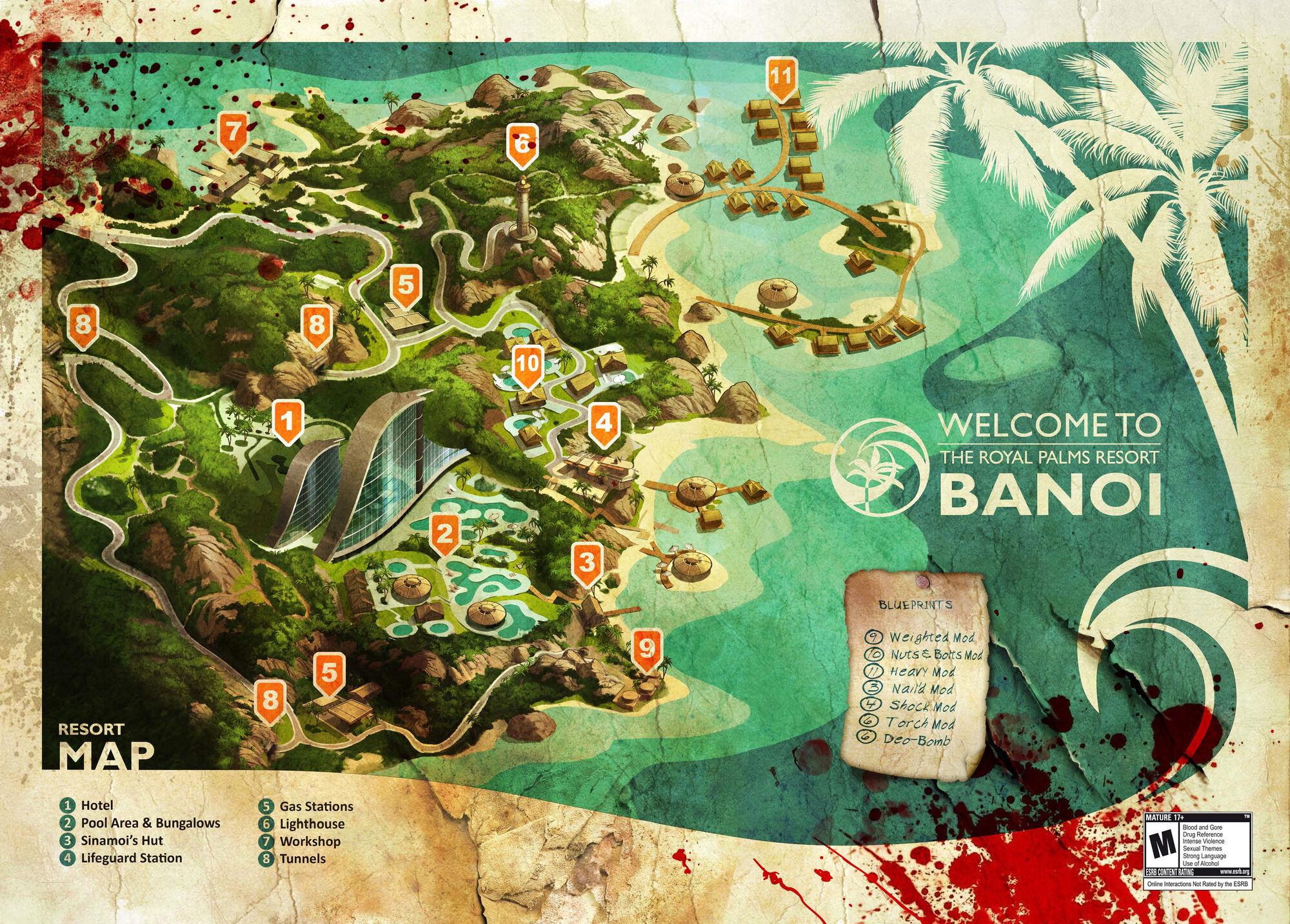 Dead Island Blueprint Locations