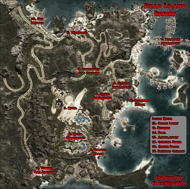 Dead Island Skull Locations Map