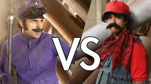 Mario VS Waluigi (Fight Scene from Mario Warfare)