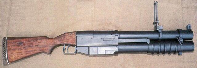 File:US M79 pump-action four-shot 40x46mm grenade launcher.jpg