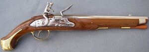 French flintlock pistol 1733 1