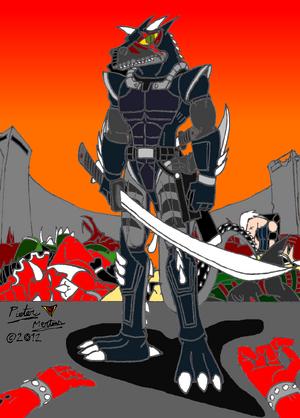 Cratos the Brutal Carnotaurus Warrior