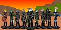 Four Armed Team of the Apocalypse Legion