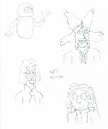 Breaktime doodles - 5C - DM - TED, Antares, Laurence, Winnie - 8-22-2016