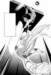 Ganta saves Shiro in the dog race