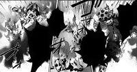 Ichi and Hajime burning alive