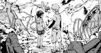 Minatsuki and Yō holding hands