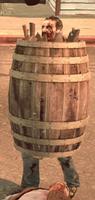 Dead rising case 0 large barrel on zombie