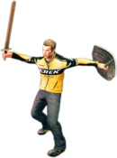 Dead rising training sword combo 3