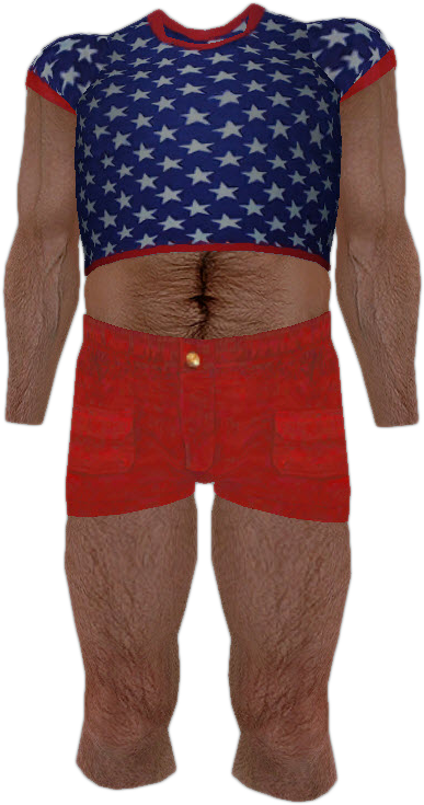 Blue T-shirt with White Stars and Red Shorts | Dead Rising Wiki ...