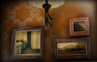 Dead rising director's office paintings over fireplace