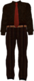 Dead rising Black and Brown Checkered Dress Shirt, Black Tie, and Striped Pants