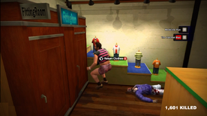 Dead rising clothing Pink and Black Striped T-shirt with Pink Jean Shorts 2