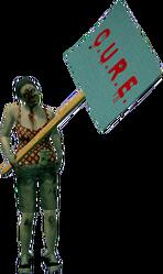 Dead rising zombie protestor female travel pouch