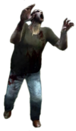 Dead rising zombie green tshirt blue jeans