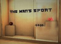 Medicine ball boxing gloves barbells the man's sport display