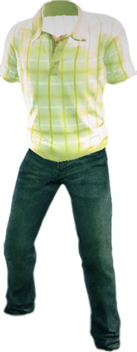 Dead rising Polo Shirt Blue Jeans