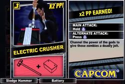 Dead rising 2 combo card Electric Crusher