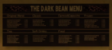 The Dark Bean Menu