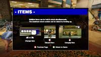 Dead rising demo items screen