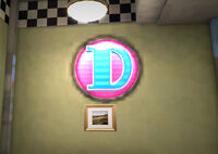 Dead rising dining at davey's logo letter D logo