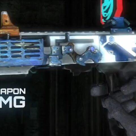 EG-900 SMG в руках Карвера