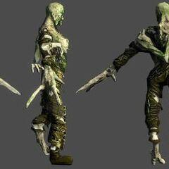 Рендер мумифицированного Блевуна в Dead Space 3.
